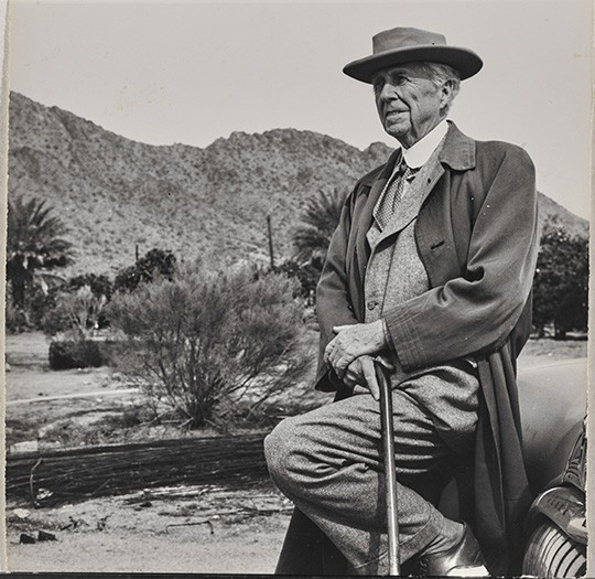 Frank Lloyd Wright. Undated photograph. Image Courtesy of The Frank Lloyd Wright Foundation Archives (The Museum of Modern Art | Avery Architectural & Fine Arts Library, Columbia University, New York)