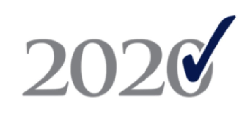 2020 with a check mark