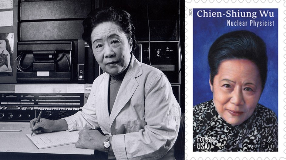 Chien-Shiung Wu an dher postage stamp.