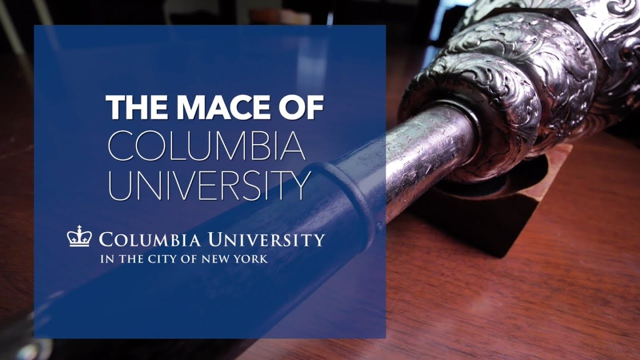 The Mace of Columbia University and a picture of the mace.