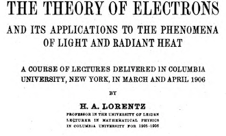 An invitation to a lecture series at Columbia in 1906, which helped to popularize the work of physicist Hippolyte Fizeau and his discovery that light can move at different speeds.