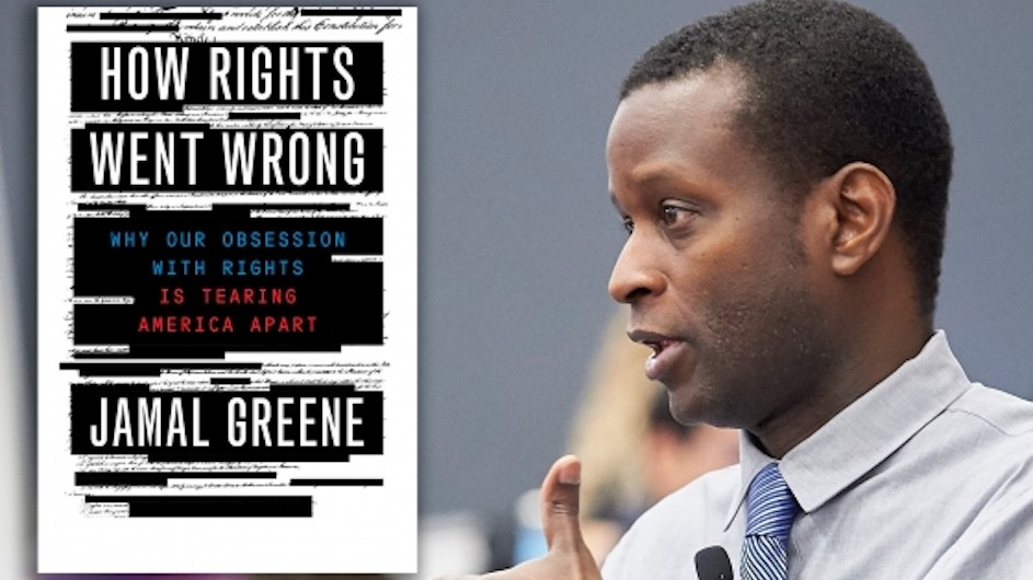 Jamal Greene and a cover of his book