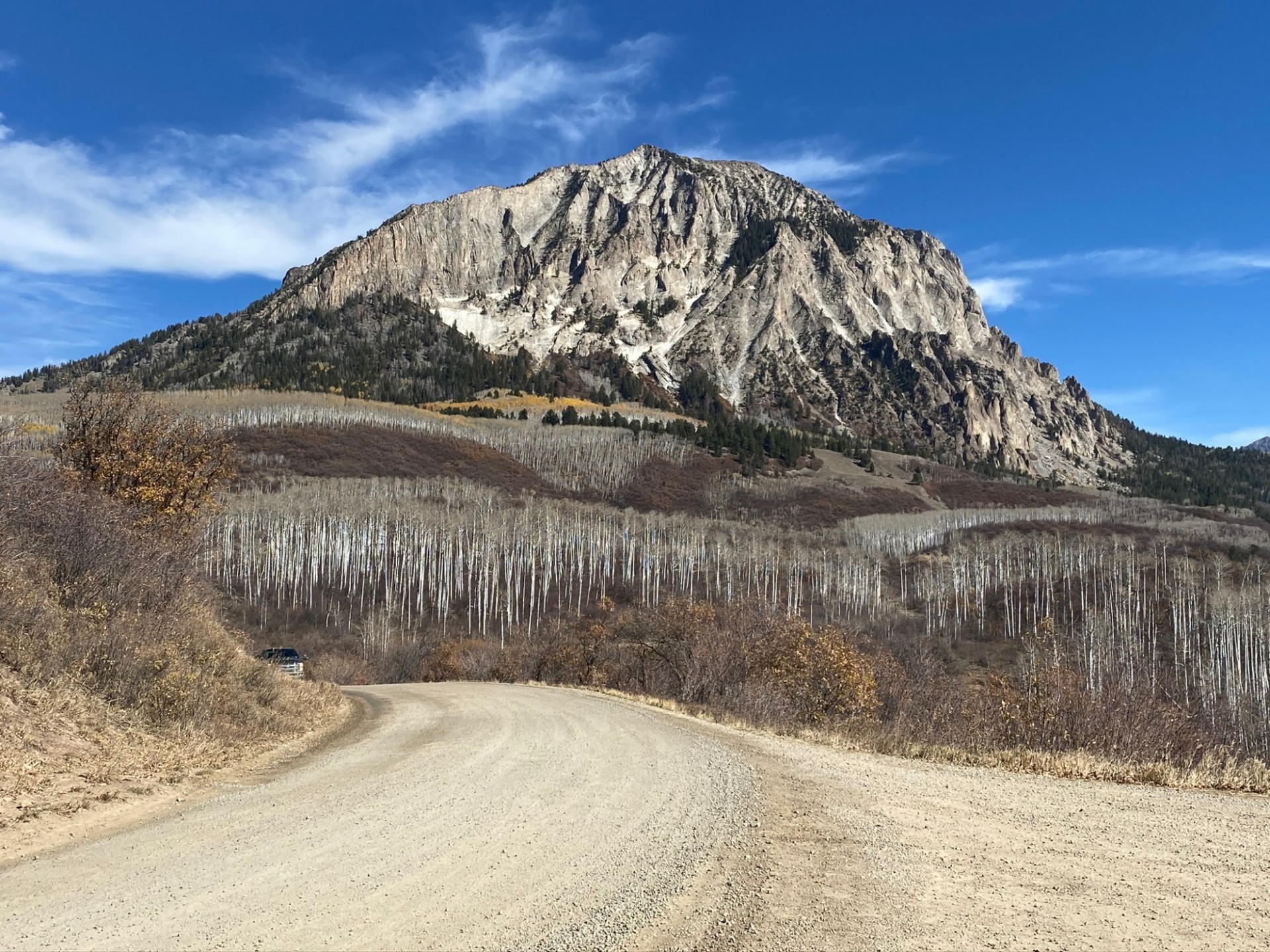 A mountain in the North Fork Valley of Colorado.