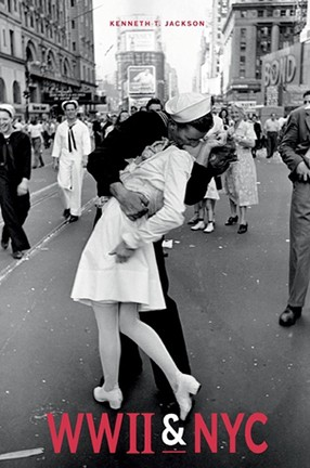 A couple kissing in the street