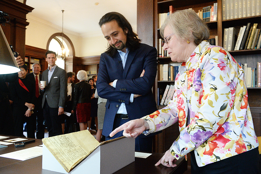 Lin-Manuel Miranda looks at the archive