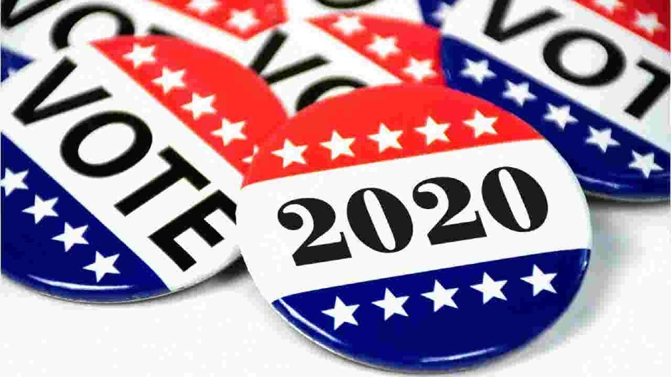 buttons showing vote 2020