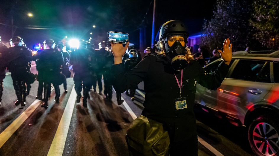 Journalist in Portland protests being followed by police