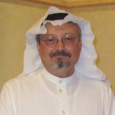 Headshot of murdered journalist Jamal Khashoggi