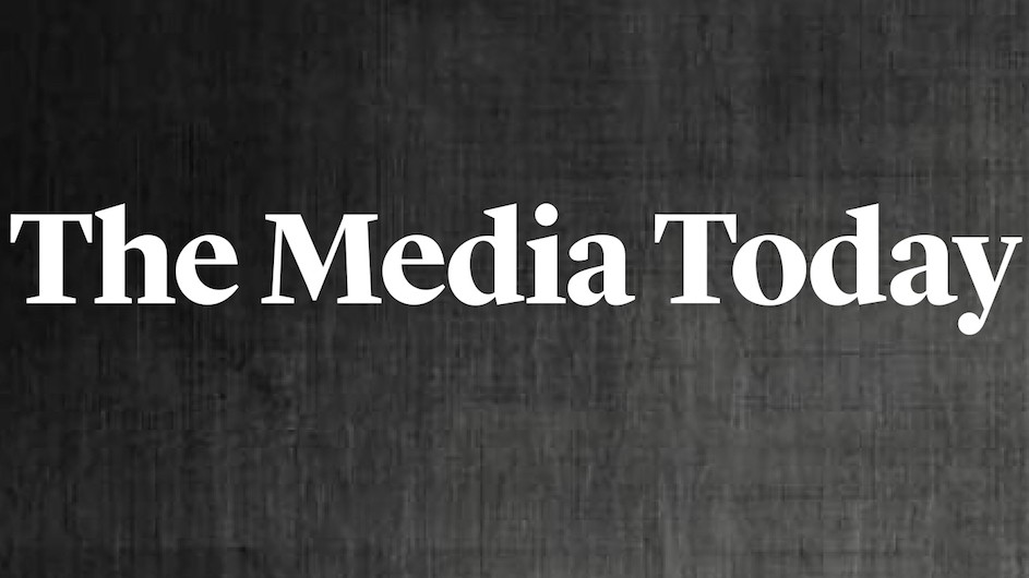 "The text ""The Media Today"" on a dark grey background"