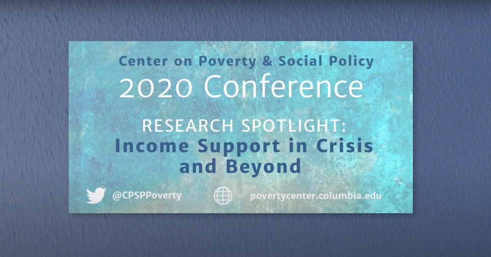 "Text saying ""Research Spotlight: Income Support in Crisis and Beyond"""