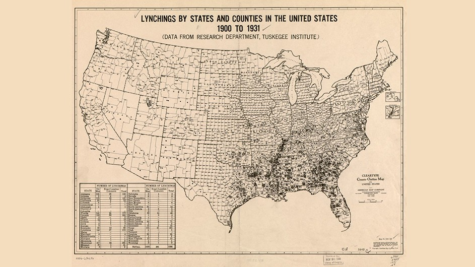 An old black and white map of the United States with markers