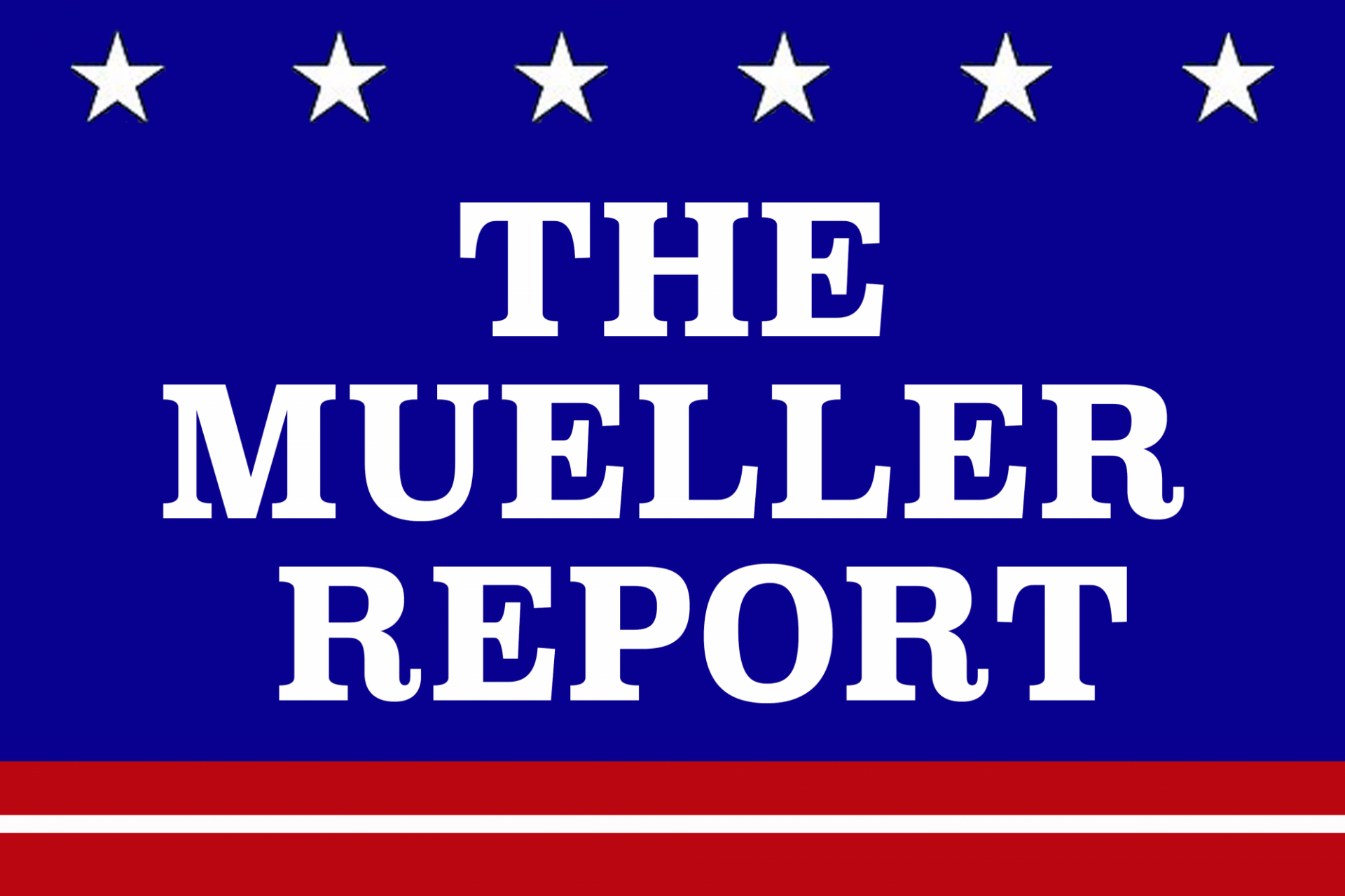 The Mueller Report on an American Flag