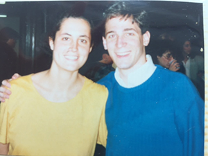 Lisa Carnoy and Jonathan Lavine in 1988