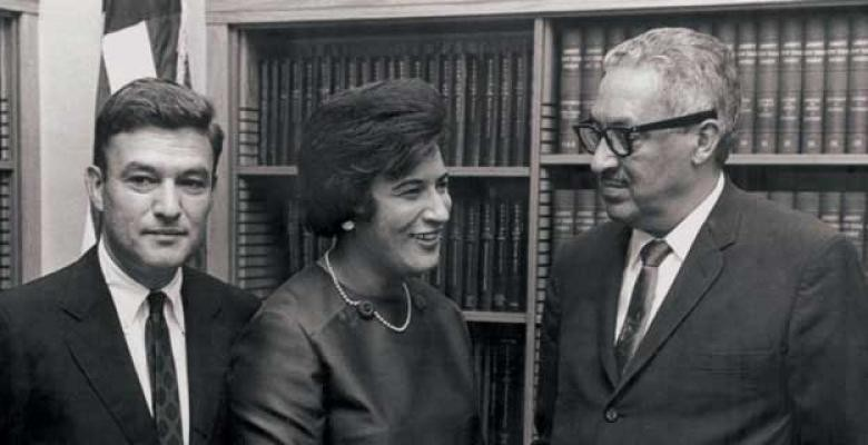 Jack Greenberg and Constance Baker Motley with Thurgood Marshall