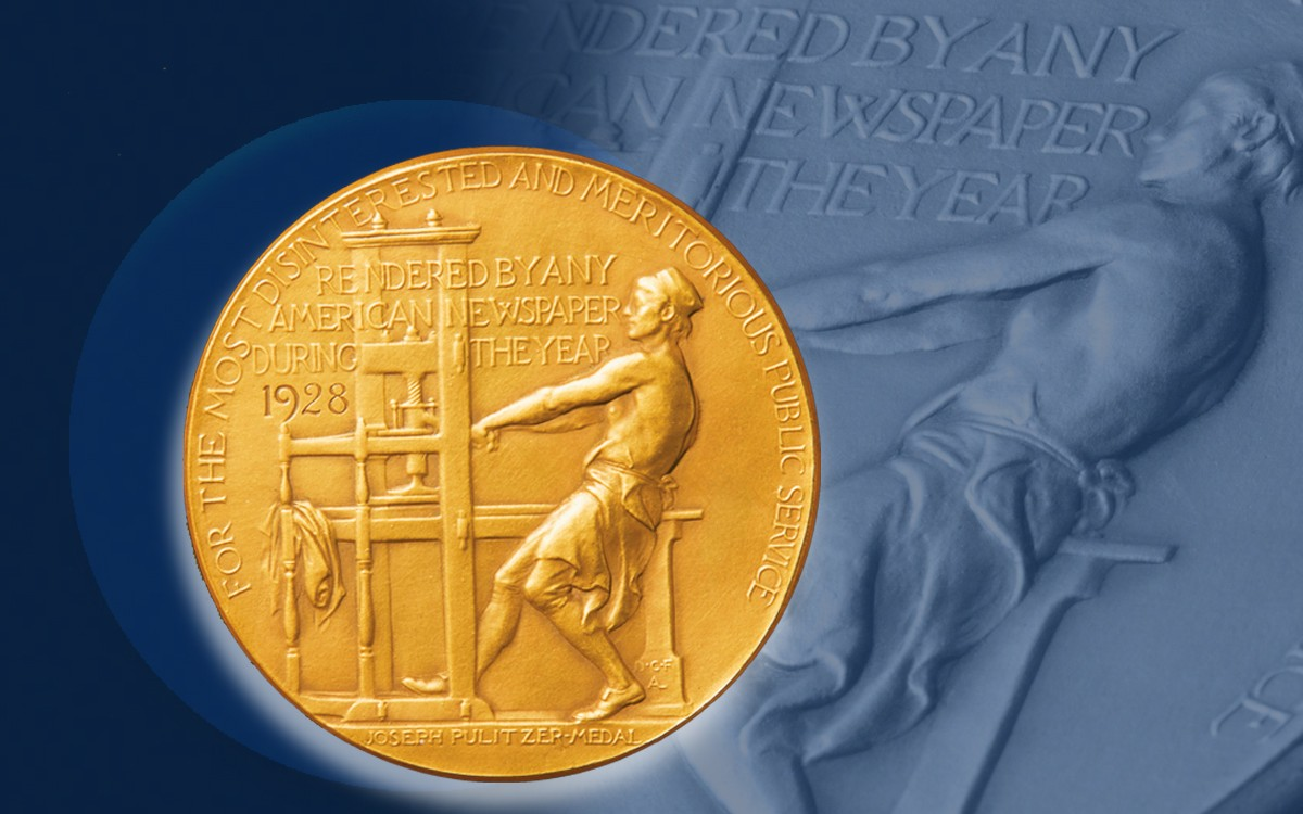 The pulitzer prize gold coin