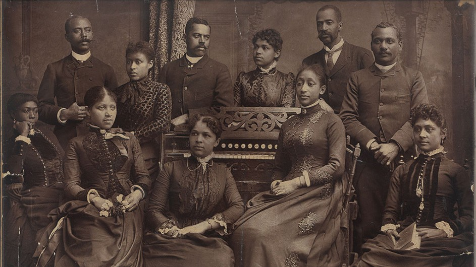 An archival photo of African American jubilee singers