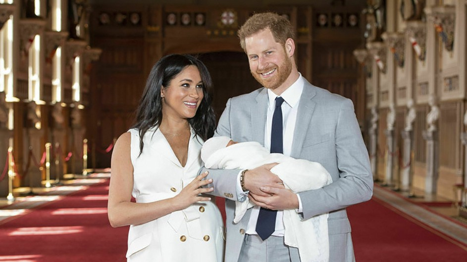Prince Harry, Meghan, Duchess of Sussex and Archie Harrison Mountbatten-Windsor