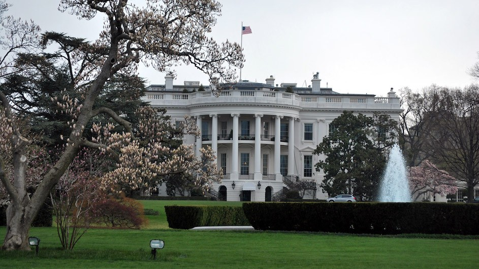 A photo of the White House