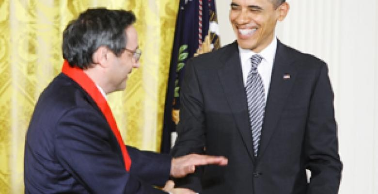 Professor Delbanco with President Obama