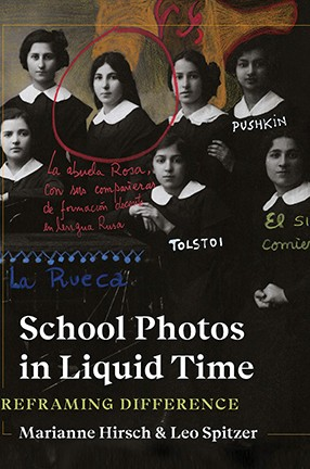 A book jacket cover with a school photo of girls in uniforms.