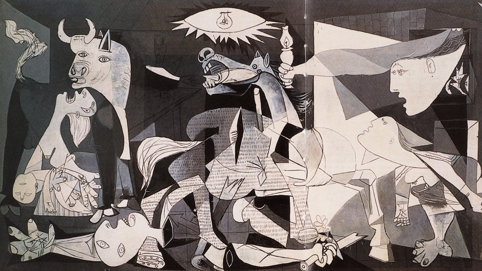 "Picasso's famous 1937 painting, ""Guernica"""