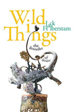 "The book cover of ""Wild Things: The Disorder of Desire"" with yellow type and an illustration of a dragon."