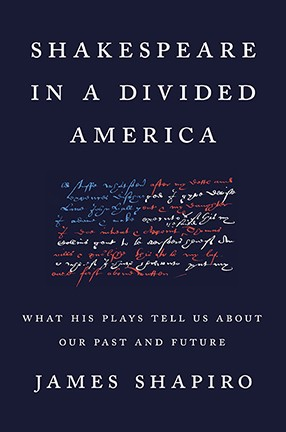 A black book cover with white, red and blue text.