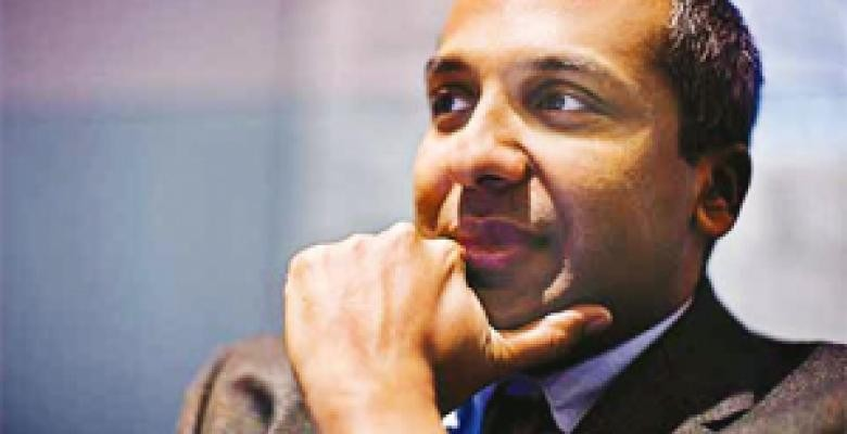 Sree Sreenivasan has been named Columbia's first chief digital officer, tasked with steering the University's digital learning. Image credit: Joseph Lin