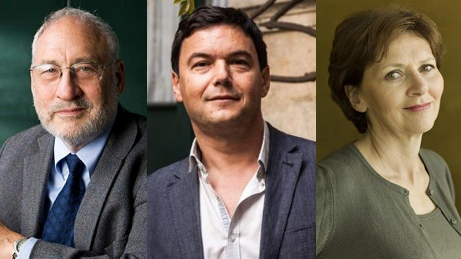 Stiglitz, Piketty, Kauffmann: 2 men and 1 woman